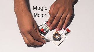 Magic Motor - Magnet experiments - Magical magnet - Polymagnet - Simple Crafts Science Experiments