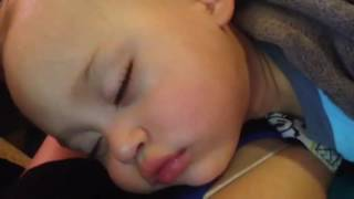 Joey snoring 2 years old. Sept 2016
