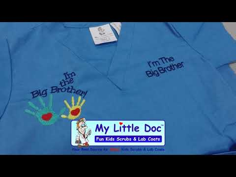 5d3c58646e7 Kids Scrubs with Big Brother Embroidery Design - YouTube