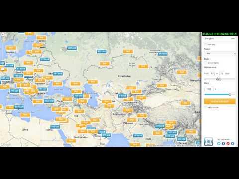 ค้นหาราคาตั๋วเครื่องบิน จากแผนที่โลก