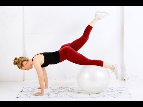 Full Body STABILITY BALL Workout // Exercise Ball Routine