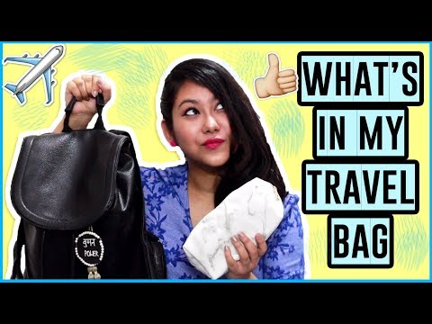 WHATS IN MY TRAVEL BAG + Talever GIVEAWAY | CarryOn Essentials For Girls In India & Packing Tips