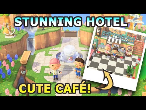 MINDBLOWING Hotel Tour! w/ Interview! | Animal Crossing New Horizons 5 Star Island Tour