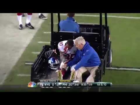 New York Giants  Victor Cruz Injury Oct. 12, 2014