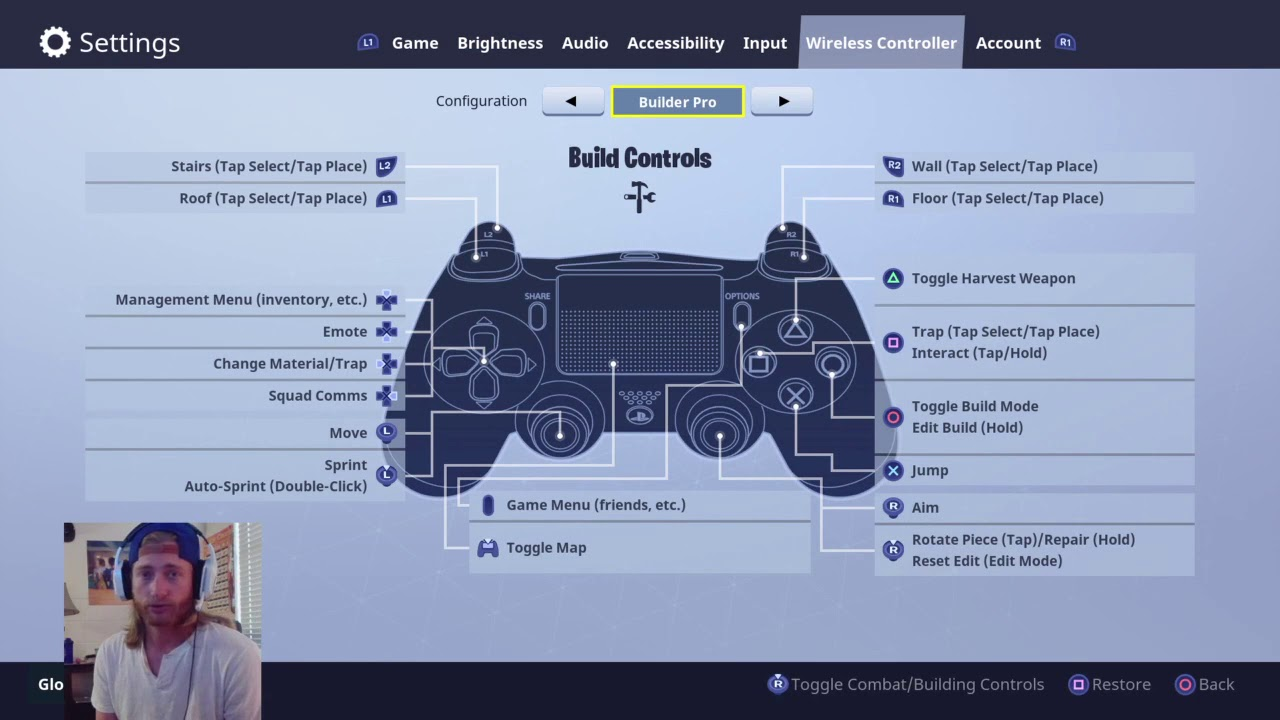 DWreck's Controller Sensitivity, Settings, and Tips (Fortnite Battle Royale)