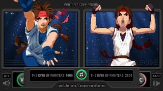 Portrait Comparison of the King of Fighters 2000/2001 (KOF 00 vs KOF 01) Side by Side Comparison