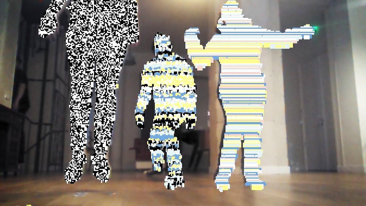 Biborg Lab - Interactive Glitch Art: Motion Sensor with Kinect 1 and ...