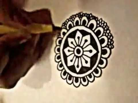 Easy Mehndi Patterns On Paper : Tutorial easy technique for complex design henna mehndi art youtube