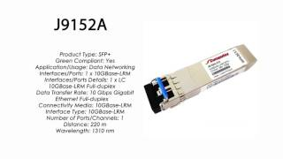 J9152A  |  HP Compatible 10GBase-LRM SFP+ 1310nm 220m