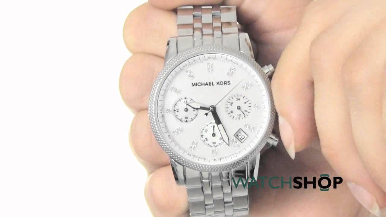 1c5e926f2ad4 Michael Kors Ladies  Ritz Chronograph Watch (MK5020) - YouTube