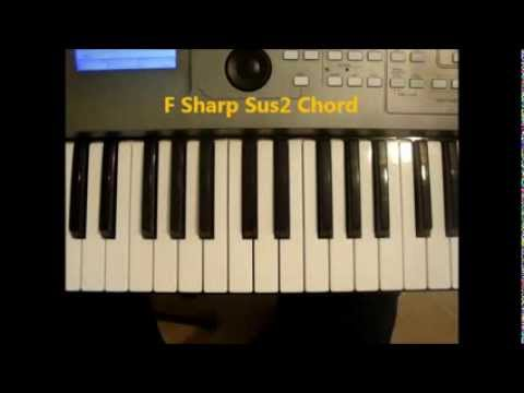 How To Play F Sharp Sus2 Chord On Piano F Sus2 Fsus2 Youtube