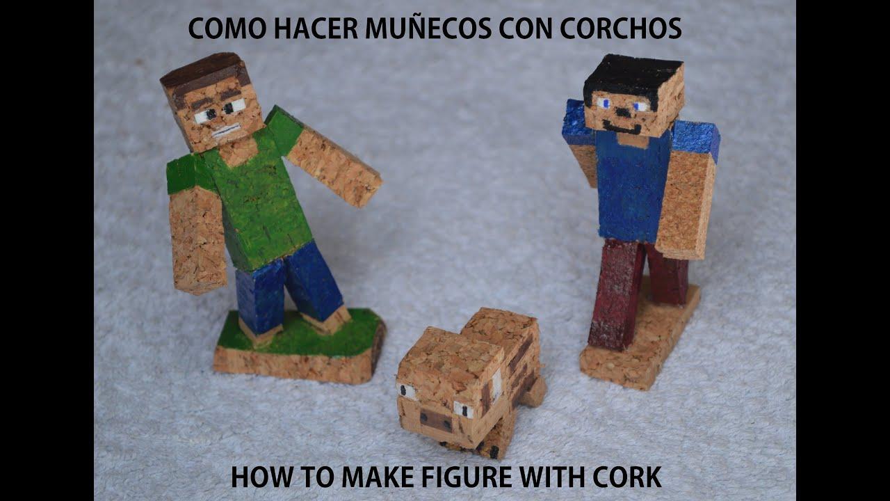 Como hacer un mu eco con corcho how to make figure with - Como hacer un muneco ...