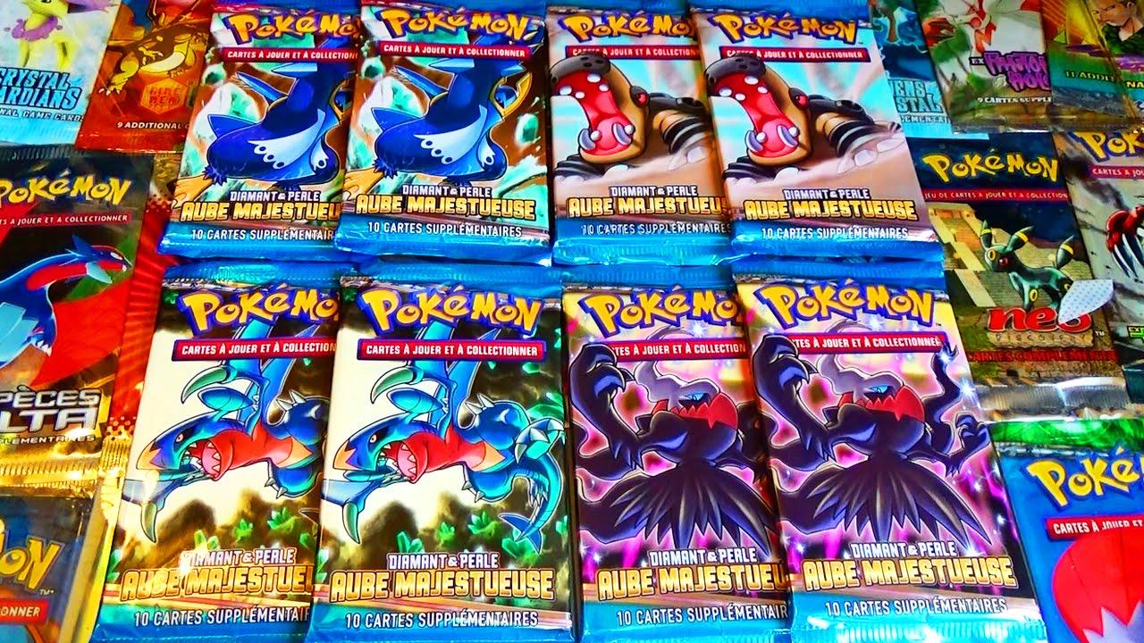 Ouverture de 8 boosters pok mon diamant et perle aube majestueuse double pokemon legendaire - Pokemon legendaire diamant ...