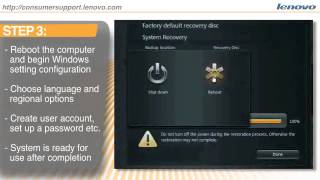how to use the: one key system recovery tool from lenovo