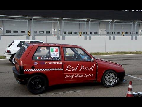 FAST! 2x Fiat Uno Turbo drag race