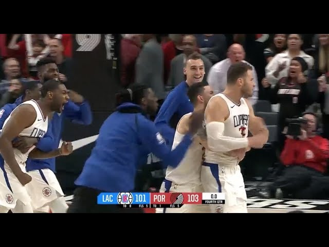 Blake Griffin's Buzzer-Beater Gives Clippers Win vs. Blazers