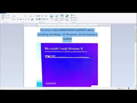 Fix error code 0x8007042B-0x4000D when installing Windows 10