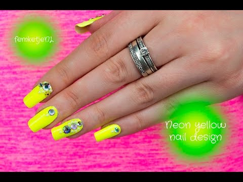 Summer Proof Neon Yellow Nail Design - femketjeNL - Summer Proof Neon Yellow Nail Design - FemketjeNL - YouTube