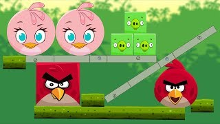 Angry Birds Kick Piggies - BAD PIGS AND SPONGEBOB GOT KICKED!!