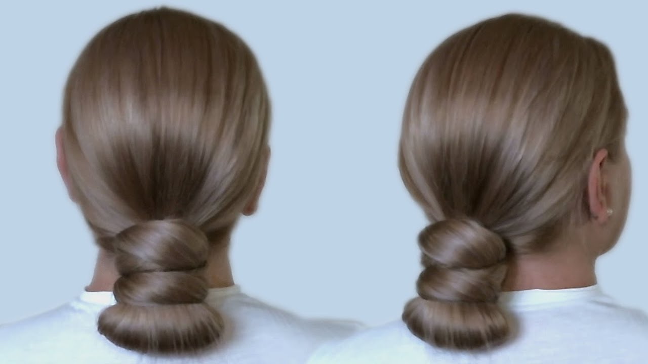 Easy school hairstyles the low ponytail knot bun tutorial