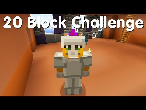 Minecraft PS4 - 20 Block Challenge - My Funky Wall (16)