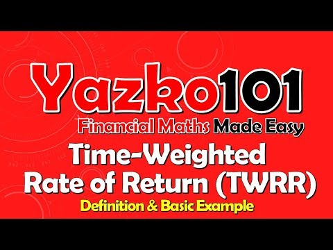 Time-Weighted Rate of Return (TWRR): Definition & Worked Example (CT1 video)