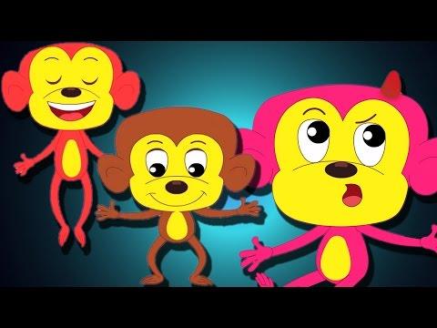 cinq petits singes   comptines pour les enfants   collection de chansons pour les enfants