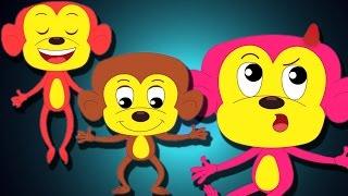 cinq petits singes | comptines pour les enfants | collection de chansons pour les enfants