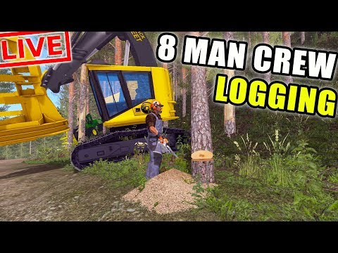 Logging Livestream | Playing With Subscribers | 8 Man Crew | Livestream   Spencer Tv 58:19 HD