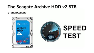 The Seagate Archive HDD v2 8TB ST8000AS0002 Read & Write Speed Test with BlackMagic