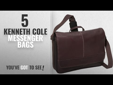 """Top Kenneth Cole Messenger Bags [2018]: Kenneth Cole Reaction """"Risky Business"""" Colombian Leather"""