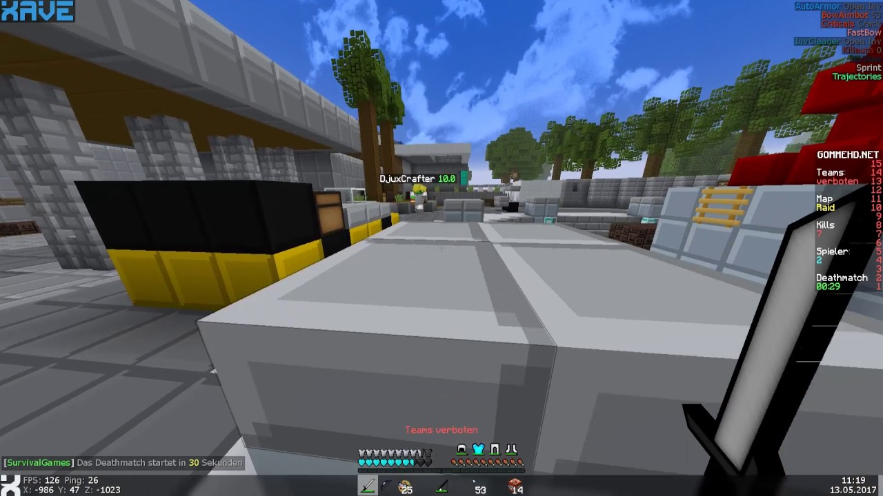 BESTER AAC VELOCITY BYPASS Lets Hack Xave B QSG Gomme - Minecraft namen andern craftingpat