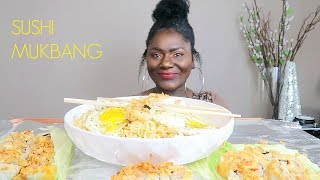 SUSHI AND SPICY NOODLES MUKBANG
