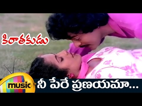Ne Pere Pranayama Music Video | Kirathakudu Telugu Movie | Chiranjeevi | Suhasini | Ilayaraja