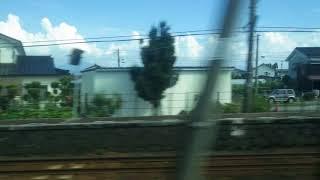 東滑川~滑川駅、あいの風とやま鉄道(旧北陸本線)、進行方向左側車窓から