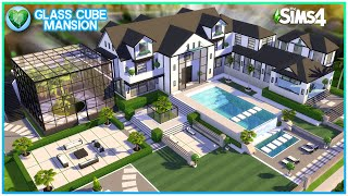 GLASS CUBE MANSION [NO CC] - Sims 4 Speed Build | Kate Emerald