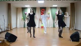 Танец к 8 Марта 2018 Белое и черное СШ 14 г Брест