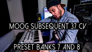 MOOG SUBSEQUENT 37 CV - PRESETS (BANK FIVE AND SIX)