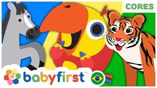 🐴 🐶🐮 Vídeos Educativos para Crianças | OVO SURPRESA | Aprenda Animais com Larry | BabyFirst Brasil