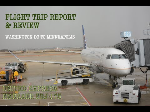 #72: UNITED EXPRESS | ERJ-175 | RED EYE | Washington DC to Minneapolis | Flight Trip Report & Review