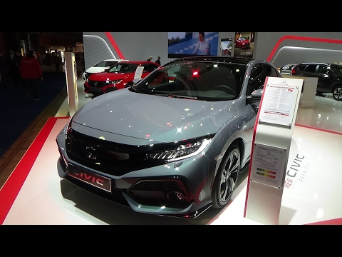 2017 Honda Civic Sport - Exterior and Interior - Auto Show Brussels 2017
