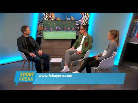 Leonie Maier und Manuela Zinsberger vom FC Bayern München zu Gast in der Sport Arena