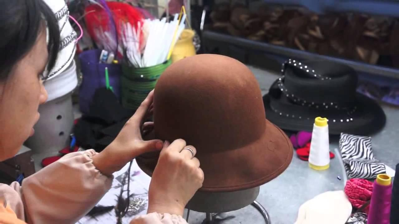 cee6adbe024 How to make wool felt hat - YouTube