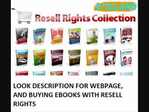 START YOUR HOME BUISNESS - MAKE MONEY SELLING EBOOKS - EBOOKS WITH RESELL RIGHTS