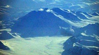 Alaska glacier from Vancouver—Tokyo (NRT) JAL B-787 日本航空バンクーバー—東京成田 2015-02-07