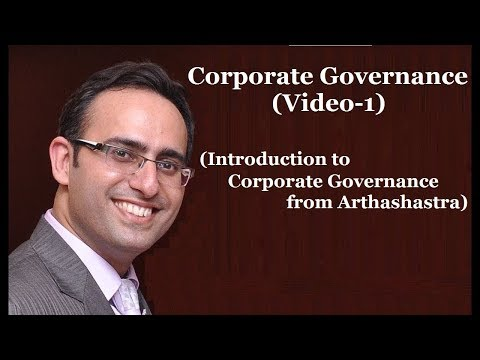 Introduction to Corporate Governance-Video-1 (Introduction to Corporate Governance from Arthshastra)