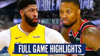TRAIL BLAZERS vs LAKERS GAME 1- FULL GAME HIGHLIGHTS | 2019-20 NBA PLAYOFFS