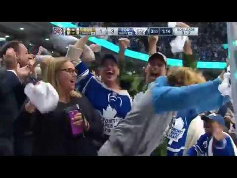 Tomas Plekanec 2nd Goal of the Playoffs   Game 6   Boston Bruins @ Toronto Maple Leafs - 4/23/2018
