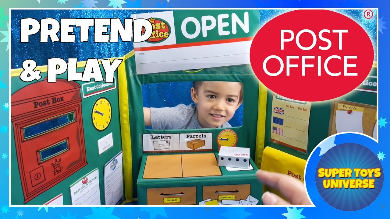 Pretend And Play Post Office Set Fun Role