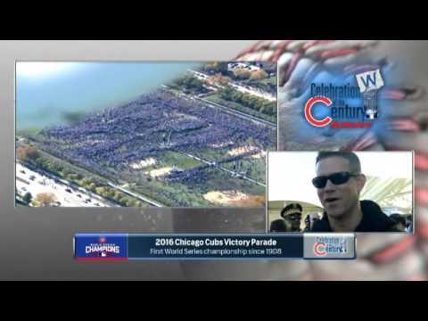 Len Kasper interviews Theo Epstein at Cubs parade